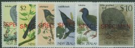 NZ SG1292-7 Birds definitives overprinted SPECIMEN set of 6